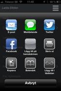 De flesta smartphones erbjuder möjligheten att lägga till en speciell websida på hemmaskärmen (skrivbordet)
