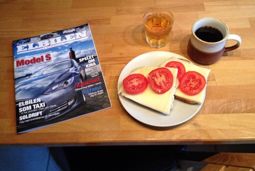 Elibilen i Sverige äntligen på frukostbordet