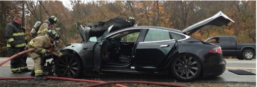 Tesla Model S varningssystem fungerar och ser till att passagerarna tryggt kan lämna ett skata fordon