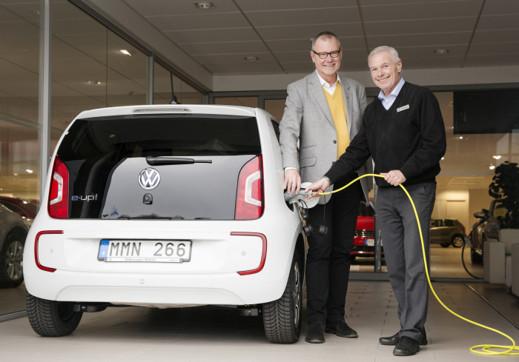 VW e-Up börjar nu synas på de svenska vägarna
