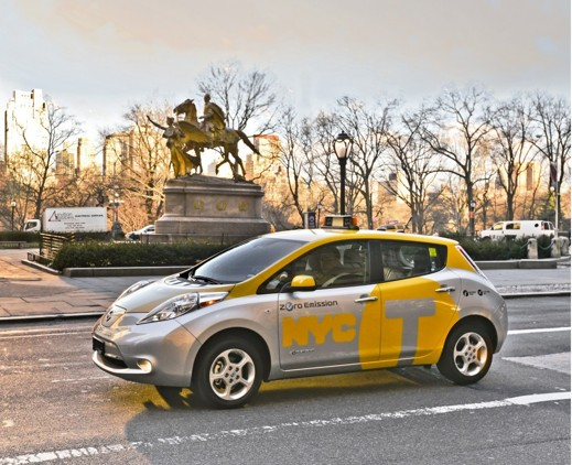 Nissan LEAF som taxi i NEW YORK