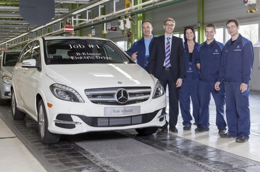 Produktionen av Mercedes B-Class Electric Drive har nu påbörjats