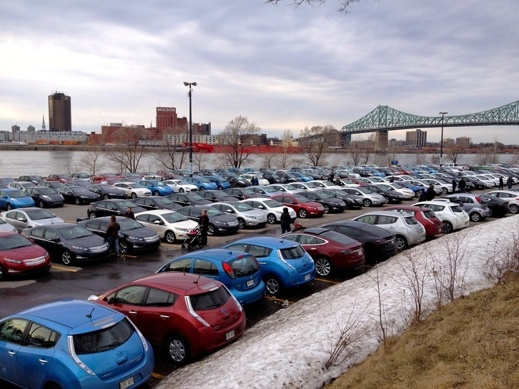 431 elbilar samlade i Montreal