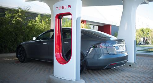 Tesla Super Chargers snart över hela landet
