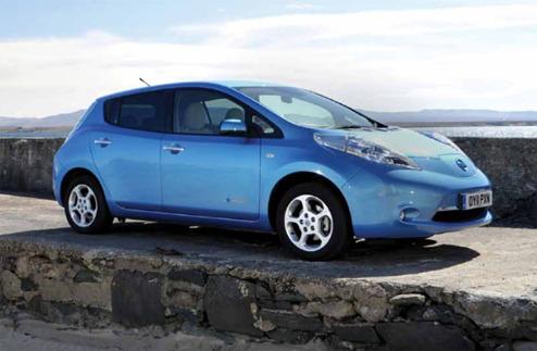 Nissan Leaf i Scottland