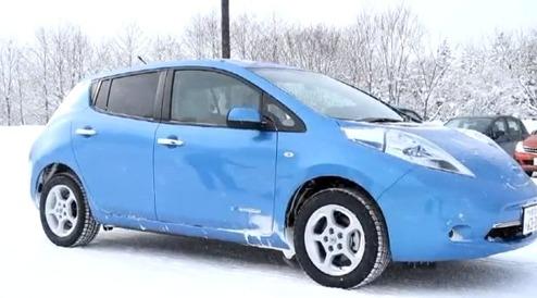 Nissan LEAF i vinterklimat