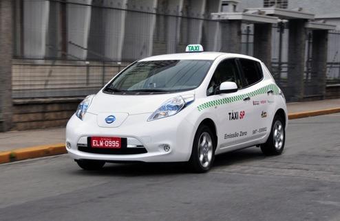Nissan LEAF som taxi i Sao Paulo