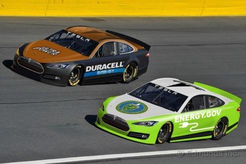 Ska Tesla köra NASCAR 2015? (Bild: Edmunds.com)