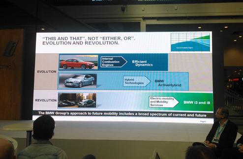 BMW i presskonferens på centralstationen
