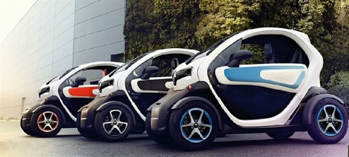 Renault Twizy i olika kombinationer