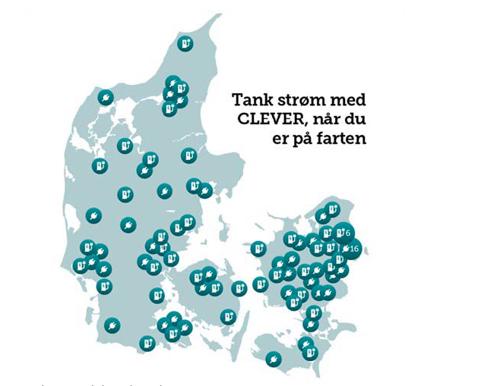 Clevers laddstationer i Danmark