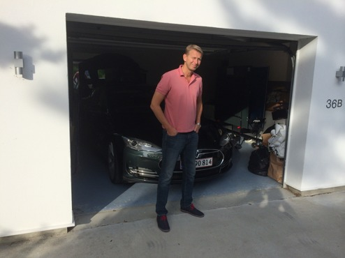 Peter Carlsson på besök  i Höllviken där han bl.a. träffade Laddaelbilen.se och SunDrive AB,  Juni 2014