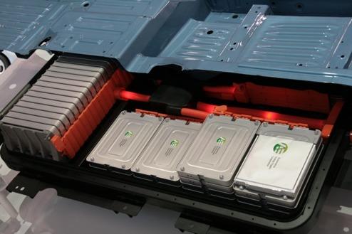 Batterierna i en Nissan LEAF