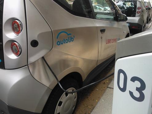 Autolibs bilpool används flitigt.