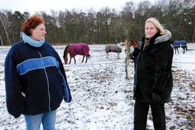Ulrica Lundman och Anneli Lindeberg i Lomma Ridklubbs styrelse vågar blicka framåt igen.