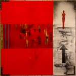 Red figure 100 x 120 cm