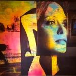 The girl from Paris Plexi/canvas  80 x 95 cm
