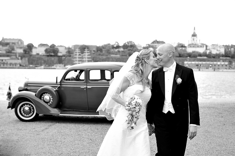 Bröllopsfotografering Skeppsholmen Stockholm
