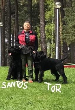 Böret med Santos och Tor.
