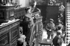 Överstelöjtnant Antonio Tejero Molina under försöket till statskupp 1981