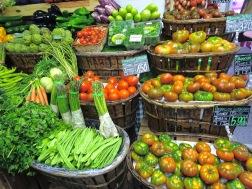 Ekologiska grönsaker, Mercado Barceló (Madrid)