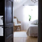 Lyxigt rum med manglade lakan