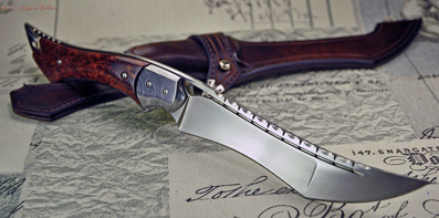 Ent -  Fighter in RWL34 with Damasteel bolsters and stabilized Redwood burl.