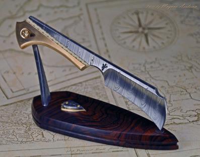 Damasteel and Bronze Desk Claw