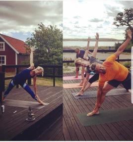Monika Folcker instruerar och leder Global Yoga, Dansbanan
