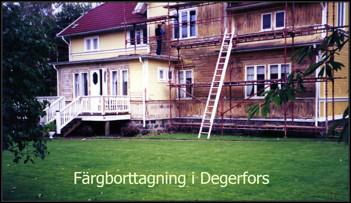 Färgborttagning i Degerfors