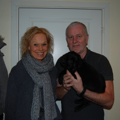 Anna-Karin, Göran med lilla Orange som heter Diza, de bor i Halmstad
