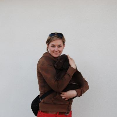 Tereza Hruba/Libuska Hanusova med Bruna hanen, han skall bo i Slovakien