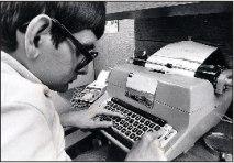 Arbetsbild från 1975.