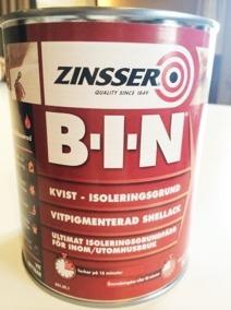 Zinsser B-I-N spärrgrund - Zinsser spärrgrund, 1liter