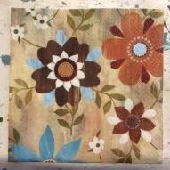 Servett 33x33, Blommor