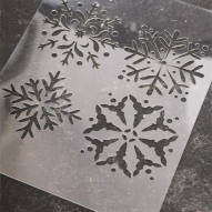 Schablon, snöflingor