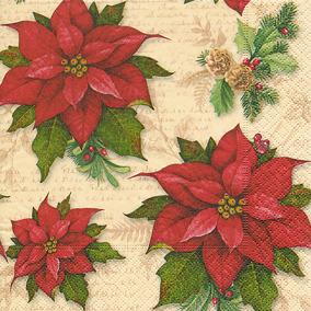 Servett Julstjärna 33x33 - Servett Julstjärna