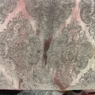 Mönstrad sammet, grå/rosa 50%