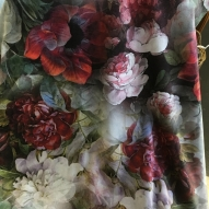 Blommigt sammetstyg 50%