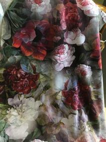 Blommigt sammetstyg - Blommigt sammetstyg