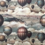 Decoupage papper, luftballong - Decoupagepapper, luftballong