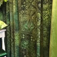 Lennon, grönt sammets tyg