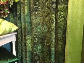 Lennon, grönt sammets tyg - Lennon, grönt sammetstyg