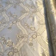 Tyg Silver med mönster, bredd 280cm