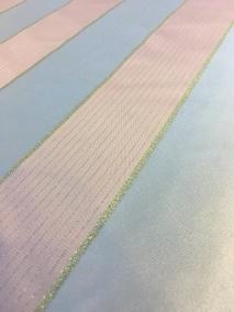 Tyg Grå/Silver randigt 280cm bredd - Grå/silver randigt tyg