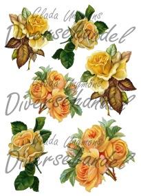Grafiskt bild gula rosor - Bild Grafisk bild gula rosor 1