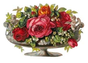 Grafiskt bild blomma urna - Bild Grafisk bild blomma urna1