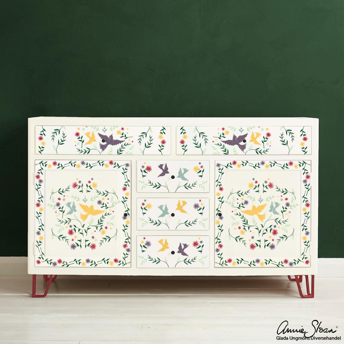 Mexican-Bird-Stencil-Furniture