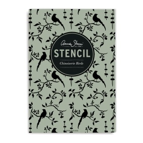Annie Sloan Stencil Chinoiserie-Birds -