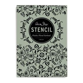 Schablon Stencil Paisley-Floral Garland -